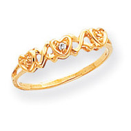 0.01ct. Diamond Heart Ring Mounting 14k Gold Polished Y1758