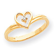 0.03ct. Diamond Heart Ring Mounting 14k Gold Polished Y1780