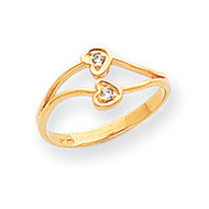 0.02ct. Diamond Heart Ring Mounting 14k Gold Polished Y1783
