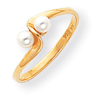 3mm Cultured Pearl ring 14k Gold Y1873PL