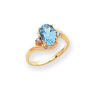 0.04ct. Diamond & 8x6 Oval Gemstone Ring Mounting 14k Gold Polished Y2245