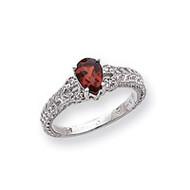 0.04ct. Diamond & 7x5 Pear Gemstone Ring Mounting 14k White Gold Y2267