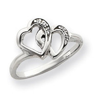 0.02ct. Diamond Heart Ring Mounting 14k White Gold Y4145