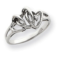 0.01ct. Diamond Heart Ring Mounting 14k White Gold Y4147