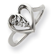 0.05ct. Diamond Heart Ring mounting 14k White Gold Y4157