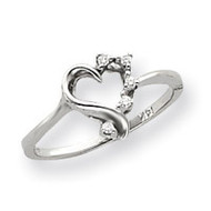 0.05ct. Diamond Heart Ring Mounting 14k White Gold Y4171