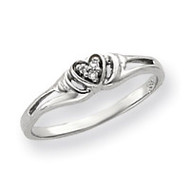 0.03ct. Diamond Heart Ring Mounting 14k White Gold Y4176