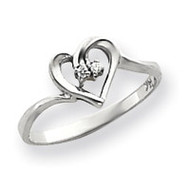 0.02ct. Diamond Heart Ring Mounting 14k White Gold Y4184