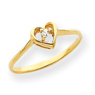0.02ct. Diamond Heart Ring Mounting 14k Gold Y4185