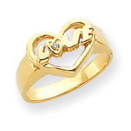 0.01ct. Diamond Heart Ring Mounting 14k Gold Y4192