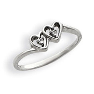 0.02ct. Diamond Heart Ring Mounting 14k White Gold Y4208