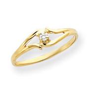0.04ct. Diamond Ring Mounting 14k Gold Y4255