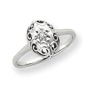 0.01ct. Diamond Ring Mounting 14k White Gold Y4257