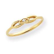0.01ct. Diamond Ring Mounting 14k Gold Y4258