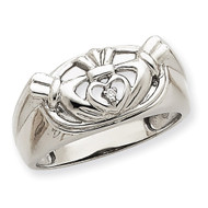 Men's Claddagh Band AA Dia Ring 14k White Gold Y7270AA