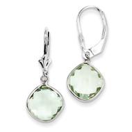 Green Quartz Dangle Lever Back Earrings Sterling Silver QE10945AG