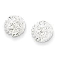Sun & Moon Mini Earrings Sterling Silver QE498