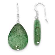 Cracked Green Aventurine Earrings Sterling Silver QE5898