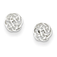 Celtic Knot Post Earrings Sterling Silver Polished QE6871