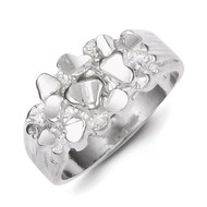 Men's Nugget Ring Sterling Silver QR129