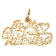 Be My Valentine Pendant Necklace Charm Bracelet in Gold or Silver 10155