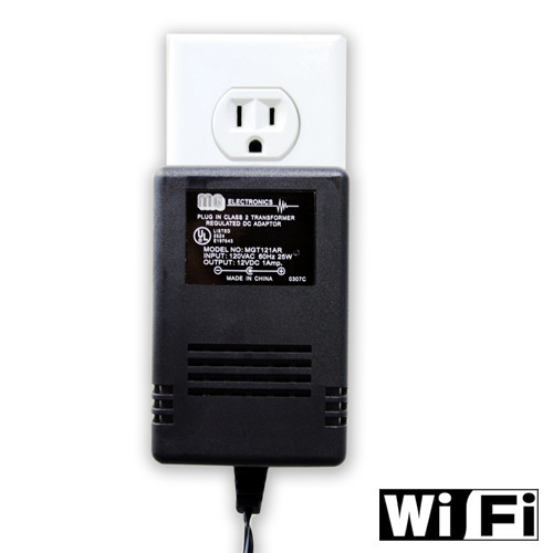 WiFi Power Adapter Hidden Camera