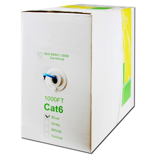 Five Star Cable UL Listed Cat6 1000 Ft. Solid UTP PVC CM-Rated Cable