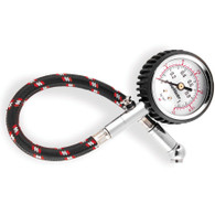 BikeMaster Dial Type Air Pressure Tire Gauge With Hose
