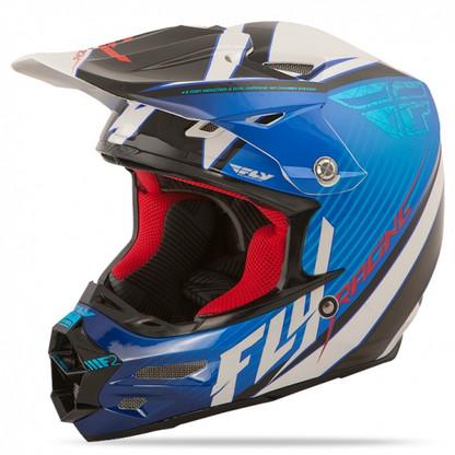 2016 Fly Racing F2 Carbon Fastback Helmet Blue/Black/White
