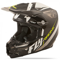 2016 Fly Racing F2 Carbon Fastback Helmet Black/White