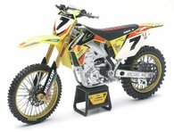 Suzuki RM-Z 450 #7 James Stewart Motorcycle Model 1/12