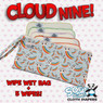 Cloud Nine Clutch Wet Bag w/Bamboo Wipes