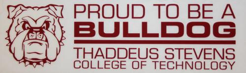 Proud Bulldog Window Cling