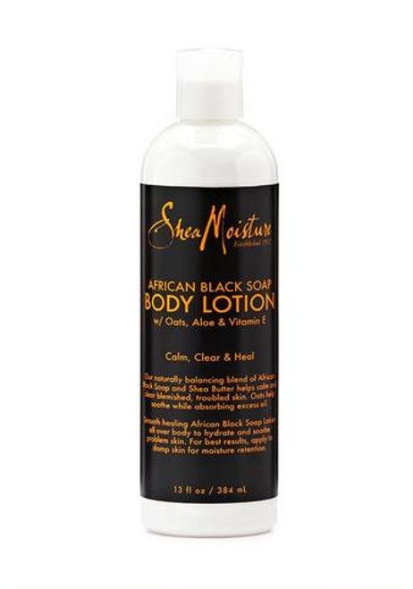 Shea Moisture African Black Soap Shea Butter Body Lotion 13oz