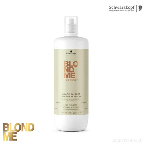 Schwarzkopf BlondMe Keratin Ph Balance Shampoo 1000ml