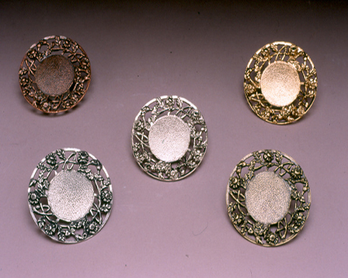 5 Victorian Trays w/ Filigree Rims