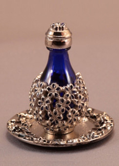 Forget Me Not Tear Bottle - pictured with Optional Tray - Sold Separately
