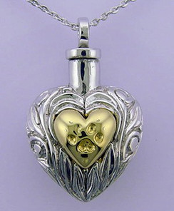 """Pet Ash Holder with Chain For Loved Pets 1 1/8""""L x 3/4""""W"""