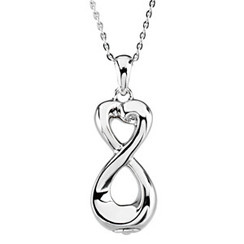 Silver Infinite Love™ Ash Pendant 33.60mm x 12.40mm 11.60 grams 7.46 DWT