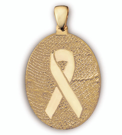 Grand Charm - Personal Expressions in 14k Gold with Ribbon Overlay