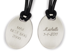 Engraving for Classic Oval Noble Bronze Charm