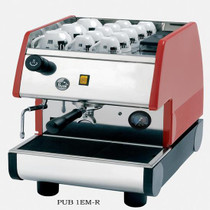 La Pavoni PUB 1EM Commercial Espresso Machine - 1 group, Pour-over, Black or Red