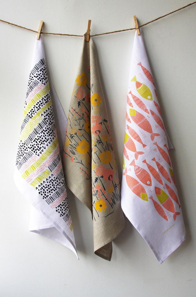 Sardines Tea Towel
