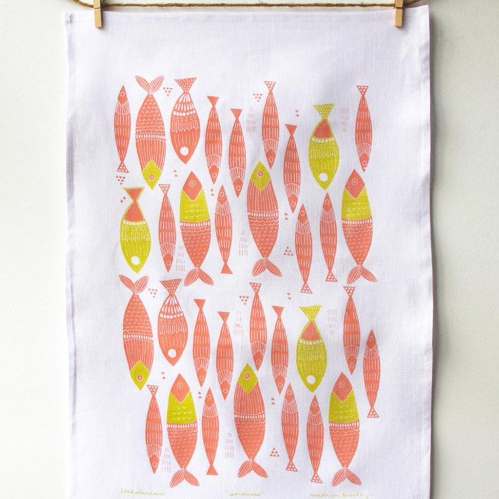 Sardines Tea Towel