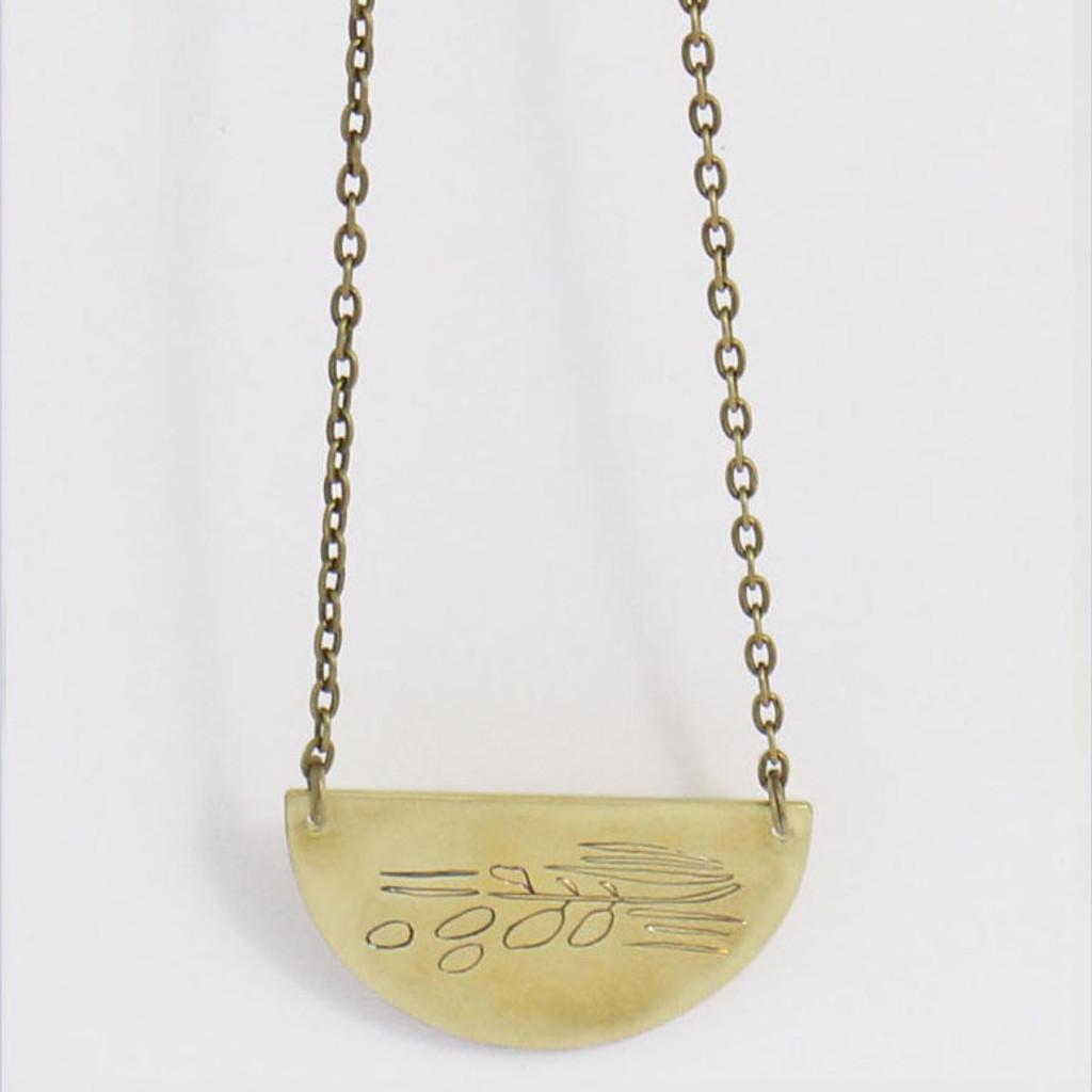 Grass Pendant Necklace