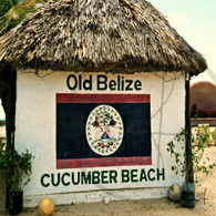 Old Belize Beach Painting