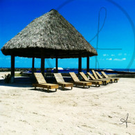 Cucumber Beach Chairs and Hut