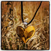 Bamboo Heart Necklace
