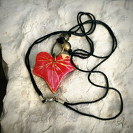 Bamboo Red Leaf Necklace