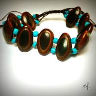 Guanacaste Seed String Bracelet Blue